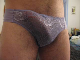 Tried on my wifes panties... they\'re a snug fit!