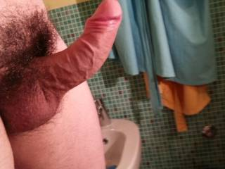 Your curvy thick dick looks perfect for hitting hard the bottom of my wet pussy...