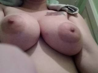 Fresh out the shower. Wanting to get dirty again by being covered in hot cum.