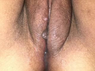 Cum oozing out of my pussy