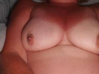 New fuck friend showing off her tits.