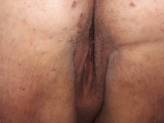 My girlfriends pussy from behind, who wants to pound that sweet pussy?