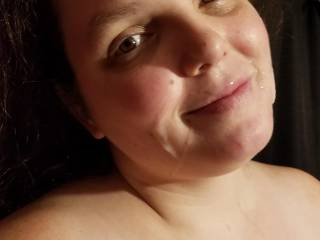 She loved this cumshot even admired herself in the mirror. Any girls want the same or more