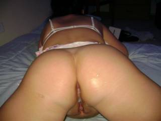 I would give her a little spanking for being a dirty girl before I jack hammered her sweet pussy!