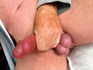 love seeing you holding your hot trobbing cock and your balls