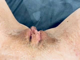 Have a watch of my series of 3 videos.. this is the end result.. after lubing my pussy and clit, and rubbing, flicking and stretching my pussy.. here are my swollen, wet pussy lips and clit.. what would you do to my little pussy now that its so sensitive?