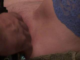 What a night, got my jeweled butt plug in, a penis plug in my urethra, his fingers inside hitting my G-spot with every thrust, and my wand vibrator on my swollen clit. Talk about sensory overload, it wasn't long before I was cumming. Did you like?