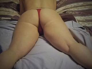 Stroke your cock until you cum all over my ass! Fuck that turns me on...my pussy will be soaked by the I start sucking your cock to get you hard again so I can ride you...keep stroking.