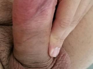 Suck my balls first then my big head cock