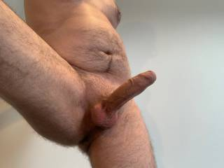 Nice and hard but nobody around to fuck, any volunteers?