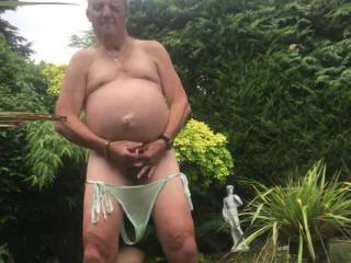 I really enjoyed wanking in the garden it would have been nice to have a zoigers stiff cock to suck or a nice tits and a wet cunt to fuck 👍😀