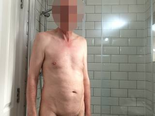 I may look relaxed at the moment but once we get into the shower and start soaping you will see a very rapid transformation and I am guessing that we will end up fucking in the shower.