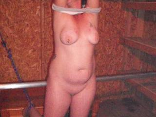 Would love to find her tied in my shed.... Could have lots of fun then