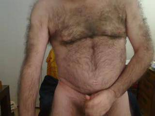 your sexy.mmmm love your hairy body and cock