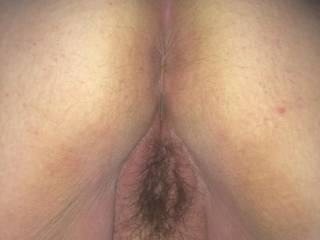 Bbw ass and pussy just before i came in her asshole
