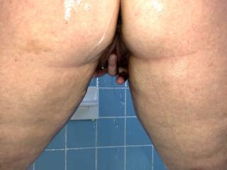 Spice fingering her wet pussy in the shower