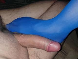 Love her feet on my cock