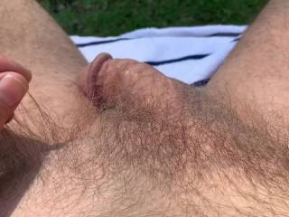 Mr. F, doing a few Kegel exercises outdoors.  From Mrs. Floridaman