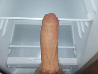 The only thing to eat in the fridge is my dick.  Go ahead and fill up