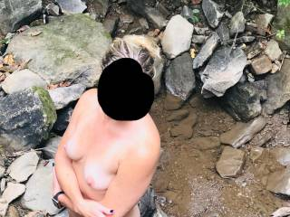I only had to ask her once.... and off they came.  Such nice tits and ass, what would you do if you came upon her in the woods?