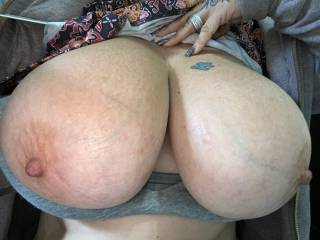 Just a quick pic from the wife at work. Massive girls!!