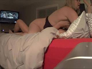 She loves to ride, I think she liked the big cock in her mouth as well