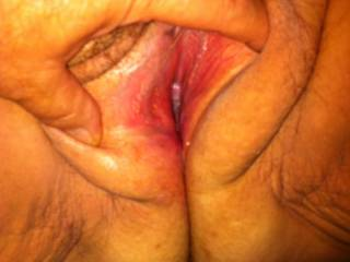 yummmy!!!  like her tunnel open i want get my cock in so she wriggle a few climaxs on it befor i blow my how much i enjoy it load in her mm
