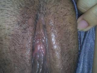 Pic of my pussy this morning after I came from husband eating eat it, before he went to work . Now I need cock , anyone ?