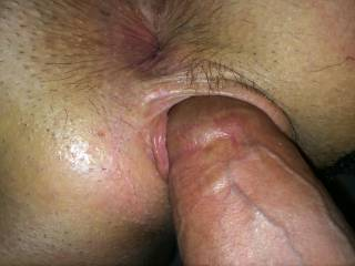 Nice tight little pussy and big thick cock.....mouth watering, cock throbbing pic.