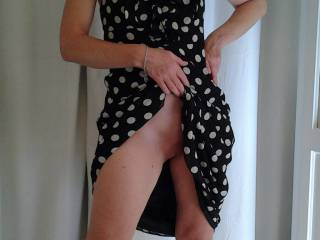 Nothing makes my dick harder than a poka dotted dress HOT girl