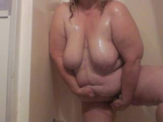 Those huge pendulous udders and sexy big hanging belly are gorgeous and when you turned round to show your big ass i shot my cum straight away !