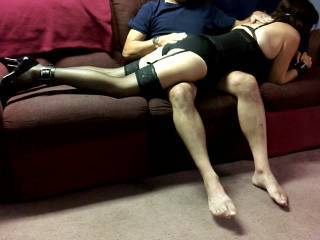 The wife getting her weekly spanking... Should I post more of her weekly spankings??? Does any other guys on zoig spank there wives?