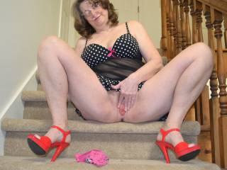 fuck yeah  dam girl you just made me have a second intense orgasm  jacking off to you this morning    mmmmm look at that pretty little pink pussy i want to slide my cock in you n feel your heat
