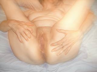 Showing her freshly fucked ass and pussy for the camera!!! Took a breather for pics!!! Saving my cum for her mouth cause she likes to ATPTM!!! Any of you ladies like Ass To Pussy To Mouth? Guy you got any comments don\'t hold back!!! Make them dirty!!!