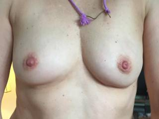 another close up, who want to suck on my perky tits ??