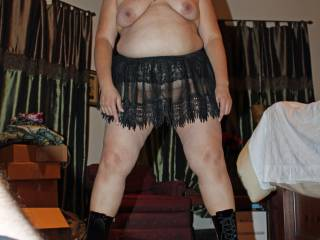 Ok hubby...get those fucking shorts off now before I put a boot where it hurts!  I want hard cock now!