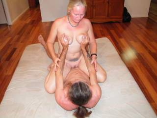 riding Jim\'s beautiful hard cock dam he feels sooooo good!! Is there any ladies out there that would like to join us and have a turn too