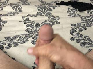 Stroking my cock and taking pics