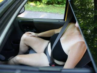 Got her to go out in her strapless bra and boy cut panties