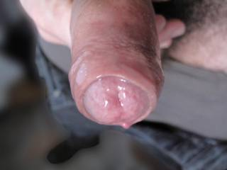 Ohhh I love this pic sooo sexy I love to see a foreskin pulling back so erotic xx