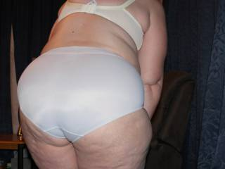 My bbw ass in big panties.