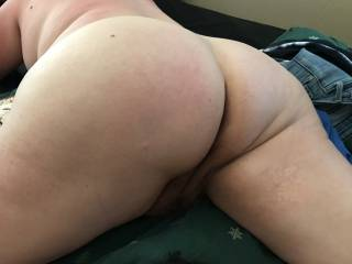 Wife's plump round ass