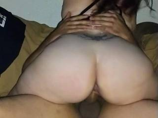 monica sitting her fat ass on it, riding that dick