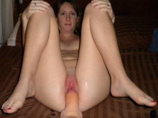 Big Dong fills my pussy up so much and feels so good. I love this thing and hubby likes using it on me!!