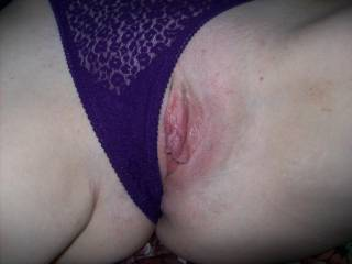 The Threesome Milf\'s pussy early in the fun.  There will be later pics of this twat reamed out and full of cum by me and my buddy