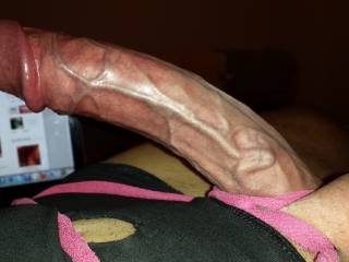 zoig members make him horny too.Hubby dick is ready for a big load...