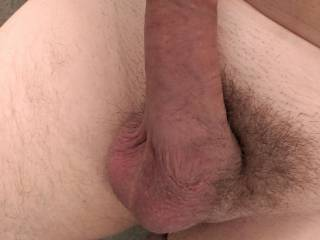 Cock shot as my partner was getting ready for a fuck session