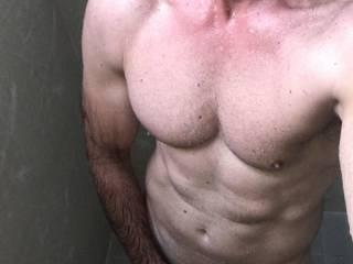 After gym shower...