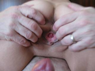 I bet she feels amazing...Do you ever fuck her brains out or just make slow sensual love lol? Ive rarely seen a 20 year old pussy that tight let alone 43...Id love to try her out ;) do you all enjoy naughty chat?, im guessing you do if you like to share but aren't looking for a hook up...