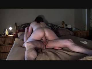I'd love for you to ride me like that--only problem:  I don't think I could hold my load for even a minute with you grinding on my cock like that!!  thanks for sharing, made me hard.